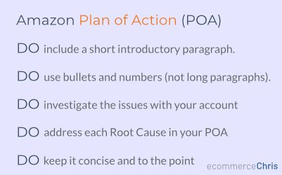 Amazon Plan of Action Do's and Don'ts